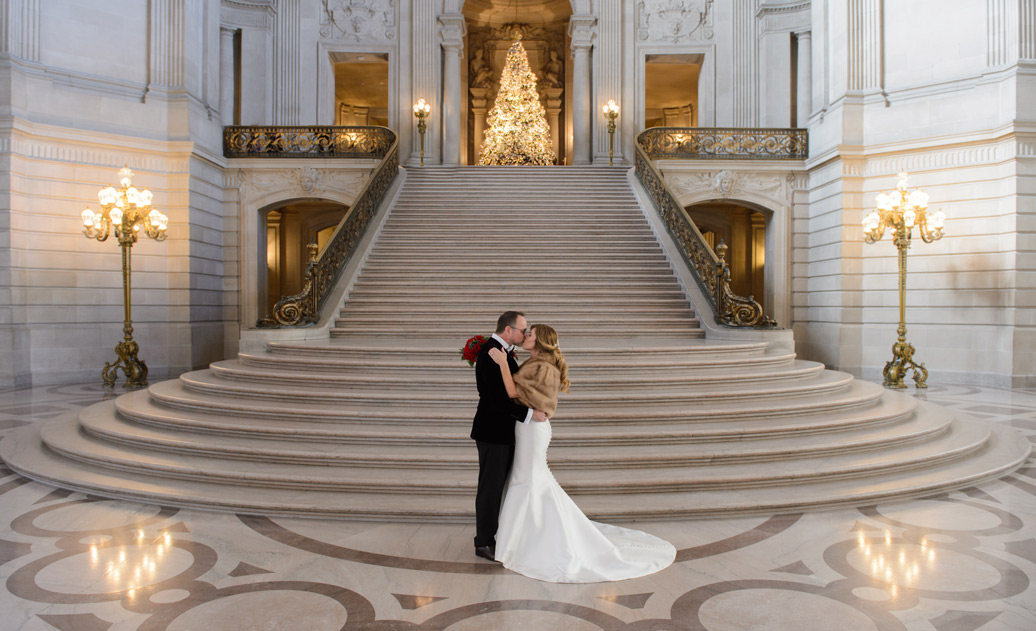 San Francisco City Hall Grand Staircase Romance